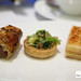 Pork and fennel sausage roll, Pickled walnut, green asparagus, parsley and baby gem tart & Croque monsieur sandwich