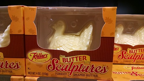 Butter Shaped Like a Thanksgiving Turkey
