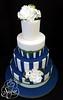 navy blue stripes by RebeccaSutterby