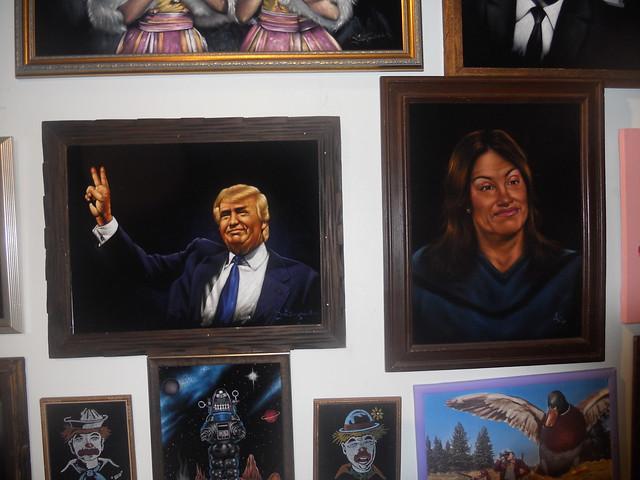 Donald Trump and Caitlin Jenner on Black Velvet - Retro Roadmap