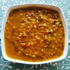 Buon pranzo! Crema di verdura con orzo lenticchie…
