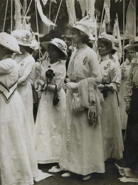 Constance Lytton and others in the 'Prison to Citizenship' pageant, 1911.
