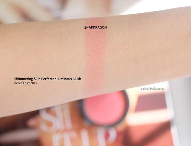 Becca Shimmering Skin Perfector Luminous Blush Snapdragon swatch