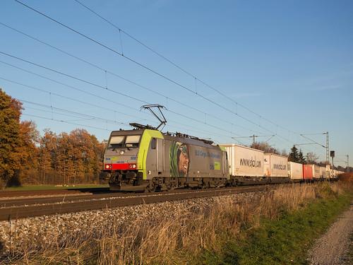 BLS Cargo 486 502 in Eglharting unterwegs nach München Ost Rangierbahnhof