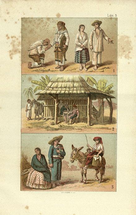 Illustrations from The Republic of Mexico in 1876 by Antonio García Cubas