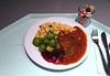 Wild boar goulash with brussels sprouts & spaetzle / Wildschweingulasch mit Rosenkohl & Spätzle
