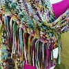 Cora's baby alpaca tassel wrap #bewilderknits #uptownfarmersmarket #babyalpaca #handmade