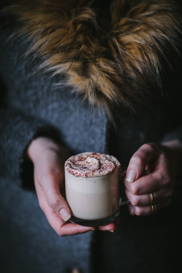 Hazelnut Maple Eggnog by Eva Kosmas Flores | Adventures in Cooking