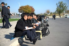 Arts students in Pyongyang