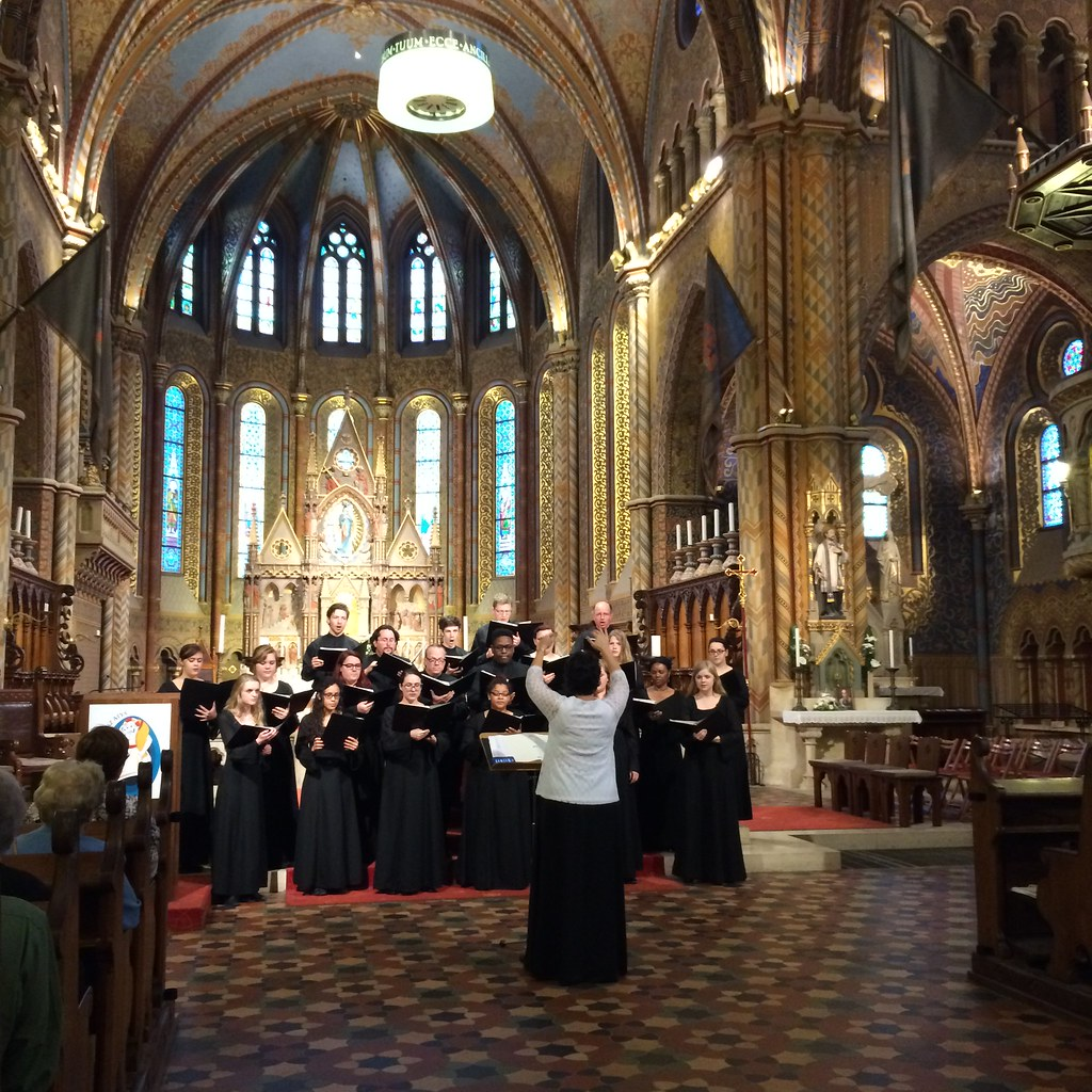 McLennan College Choir performs in the Matthias Church in Budapest