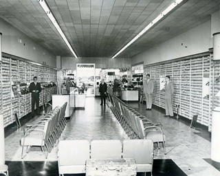 Kinney Shoe Store Interior Columbus Georgia Press Photo 1950