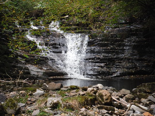 Small Waterfall in the Nant Llech Valley (Close-up)
