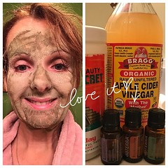 Saturday is facial day! Nothing fancy. Just green clay, apple cider vinegar, and three doTERRA essential oils. #doterra #clearskin #naturalbeauty