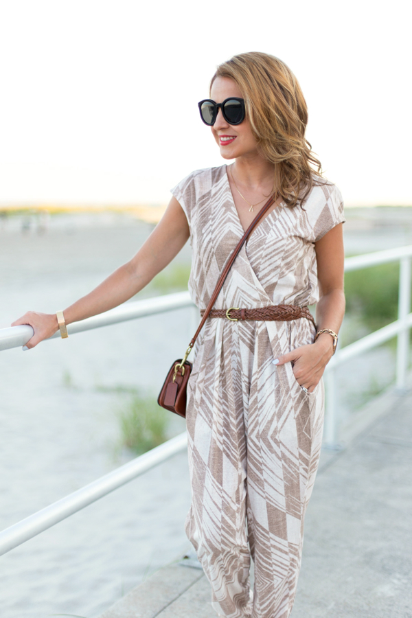 Geo Jersey Jumpsuit Outfit