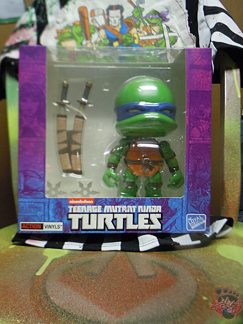 "tOkKustom :: LOYAL SUBJECTS 'Katana Lobotomy' LEONARDO iv / Original L.S. TMNT 8"" JUMBO LEONARDO box"