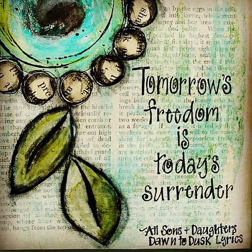"""We have been in John chapter 8 at church the past few weeks. """"The truth shall set you free"""" made me think of this song. #artjournal #allsonsanddaughters #freedominchrist #mixedmediaart #mewithmyheadinthecloudsblogspot"""