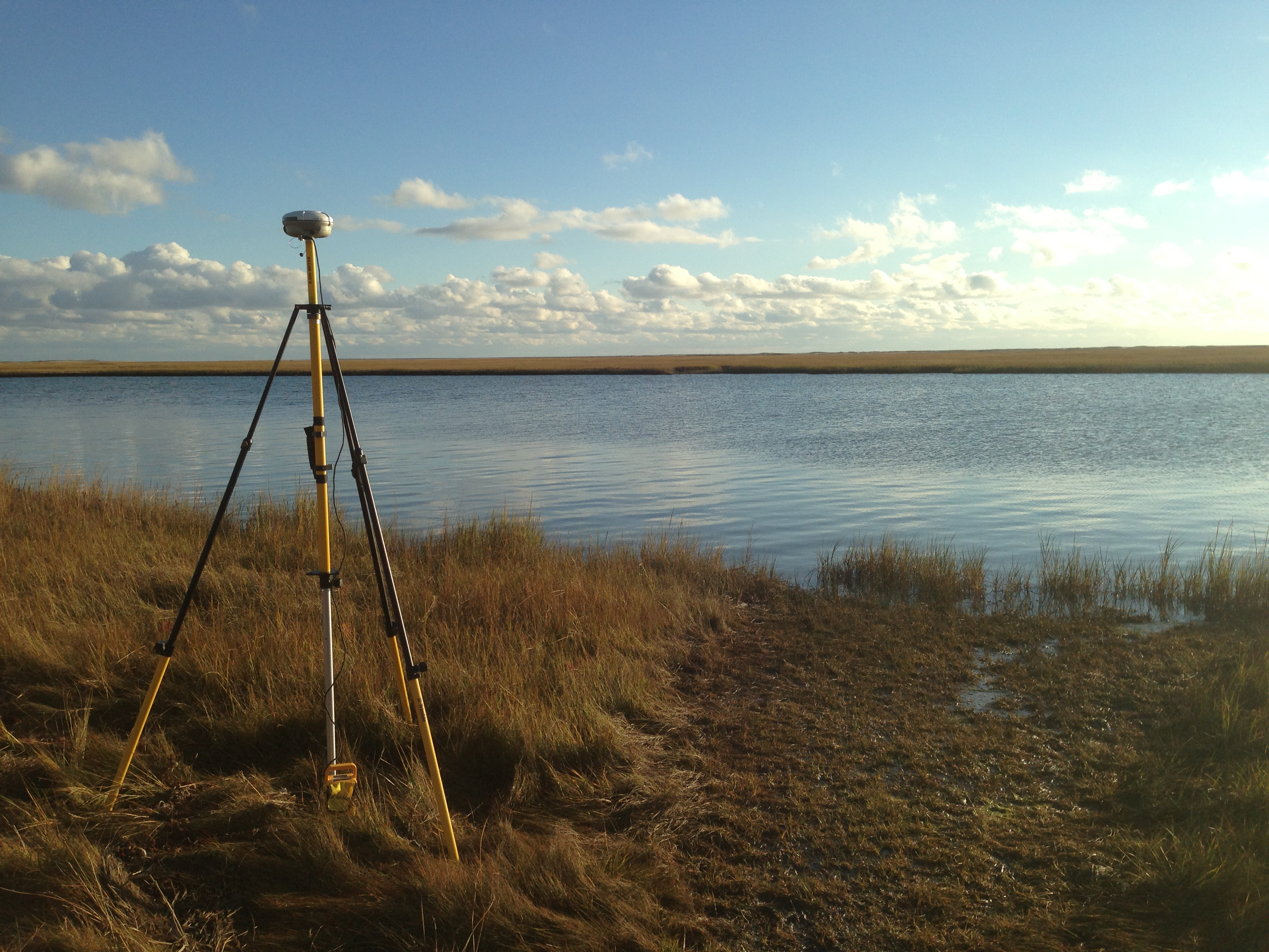 A federal award to NPS's Northeast Coastal and Barrier Network has made state-of-the-art survey equipment available to park scientists. It will support research efforts on coastal resilience and enhance natural resource monitoring. NPS photo/J. Lynch.