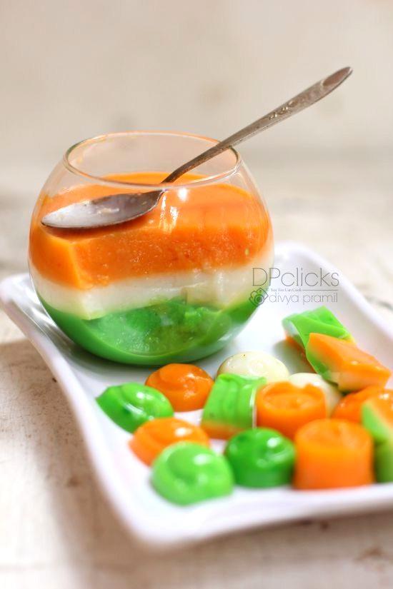tricolor dessert