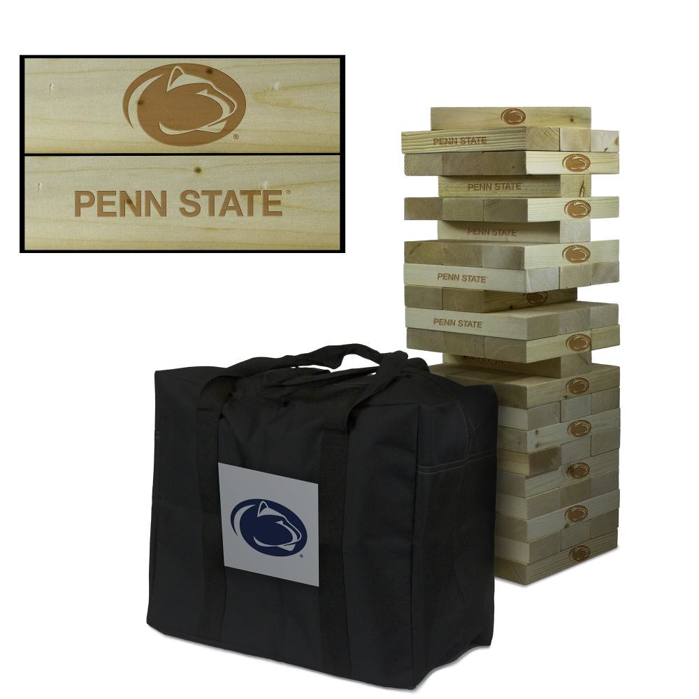 Penn State Nittany Lions wooden tumble tower game