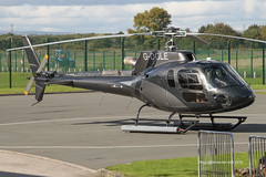 G-OGLE - 2014 build Eurocopter AS350B-3 Ecureuil, visiting the Heliport at Barton