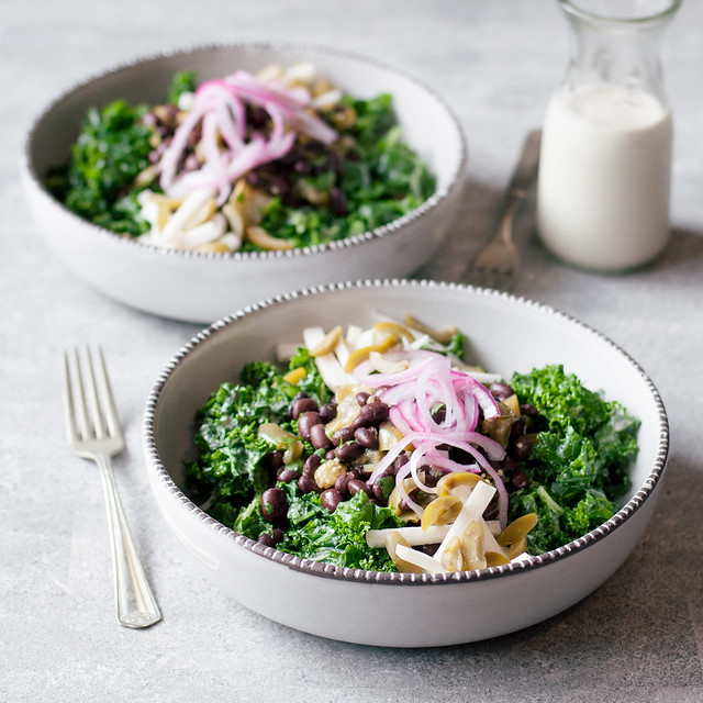 Healthy Mexican kale salad