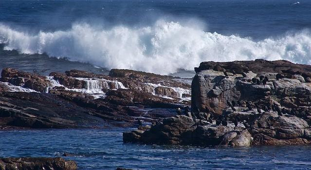 Furious Atlantic ocean at the Cape of Good Hope
