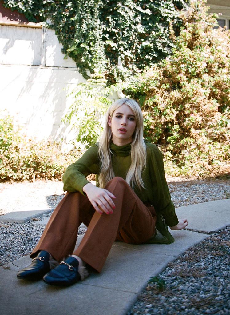 Эмма Робертс — Фотосессия для «Wonderland» 2015 – 2