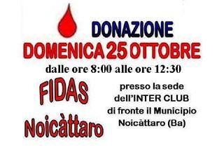 Noicattaro. Donazione Fidas Ottobre 2015 front