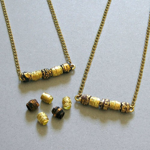 DIY Paper Bead Bar Necklaces