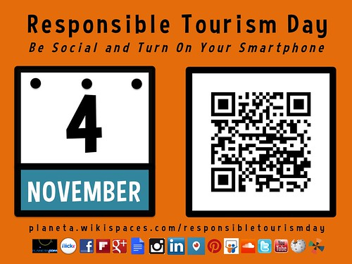 November 4 is Responsible Tourism Day: Be Social and Turn on Your Smartphone