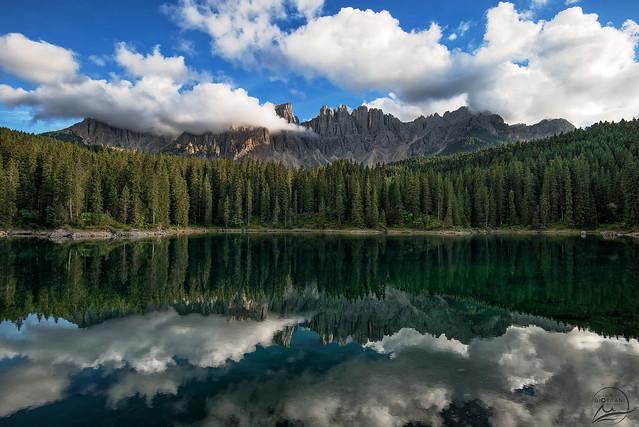 The romantic Carezza Lake