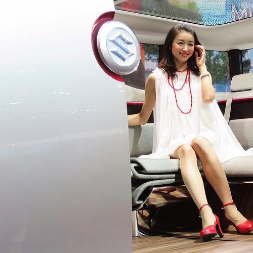 スズキのお姉さん。 #東京モーターショー #ベストカーアンバサダー