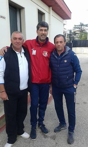 Rutigliano-Foto Michele Lasorsa ( sx) con mister Belviso e Sabino Redavid ( dx) - AzetiumRutigliano OfficialPage