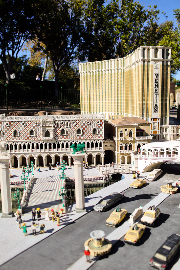 The Lego Venetian Hotel and Casino in Las Vegas - If you love travel, you will love this around the world tour at Legoland California Resort.