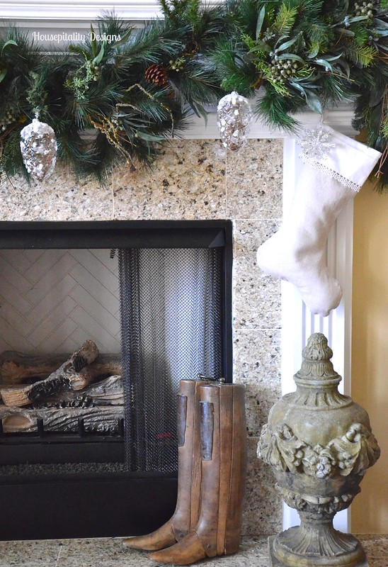 2015 Great Room Christmas Mantel/French Antique Boot Forms - Housepitality Designs