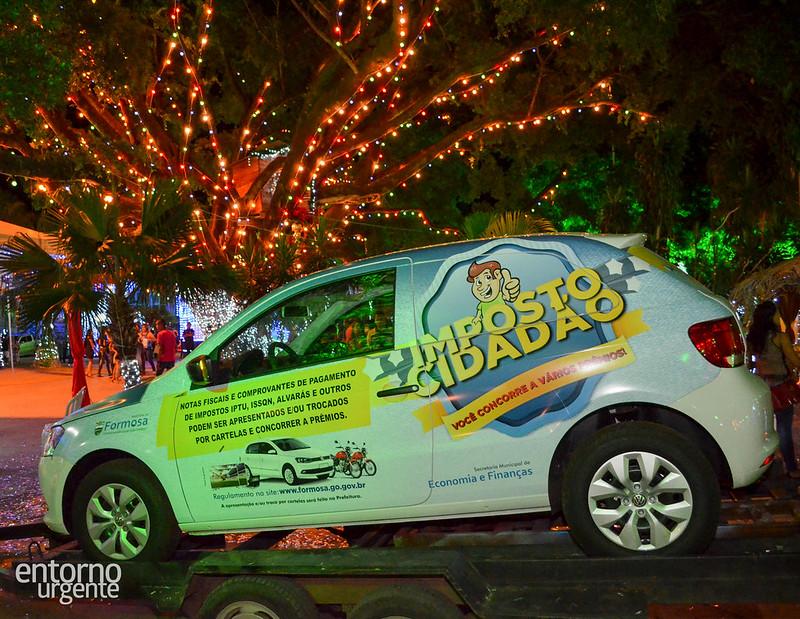 Moto e carro da campanha Imposto Cidadão são sorteados