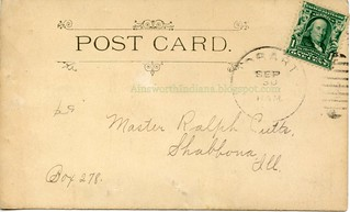 Hobart High School pre-1907 verso