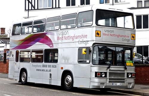 C661 LJR 'Redfern Travel' (Mansfield) Leyland Olympian ONCL10/1RV / Eastern Coach Works on 'Dennis Basford's railsroadsrunways.blogspot.co.uk'