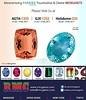 Holidome- Booth #333 from January 28 thru February 5, 2017   AGTA Booth #1325 from January 31 thru February 5, 2017 &   GJX Booth #1232 from January 31 thru February 5, 2017 www.rmcgems.com  #Gems #Jewelry