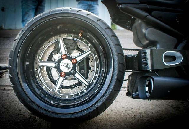 Общий вид колеса на консольном маятнике