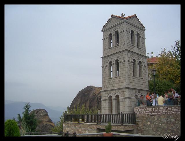 Grecia Kalambaka Meteora Termópilas Atenas - Torre del Monasterio Varlaam