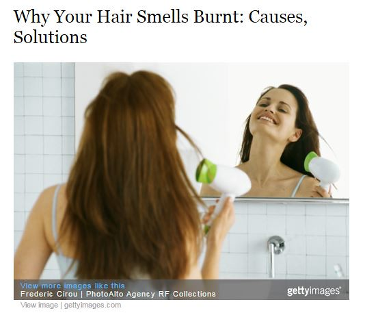 Dr. Joel Schlessinger discusses what gives hair a burnt smell with ScarySymptoms.com