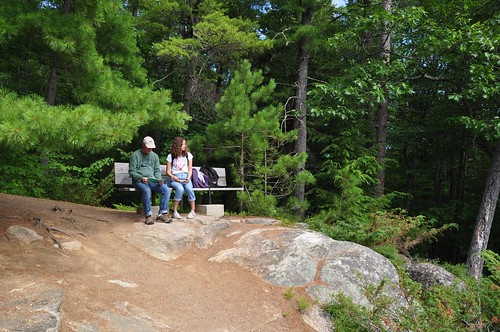 Overlooking Barron Canyon Trail, at Achray campground in Algonquin Park