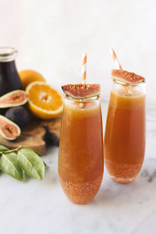 When Figs Fly // Spiced Rum Fig Kombucha Cocktail