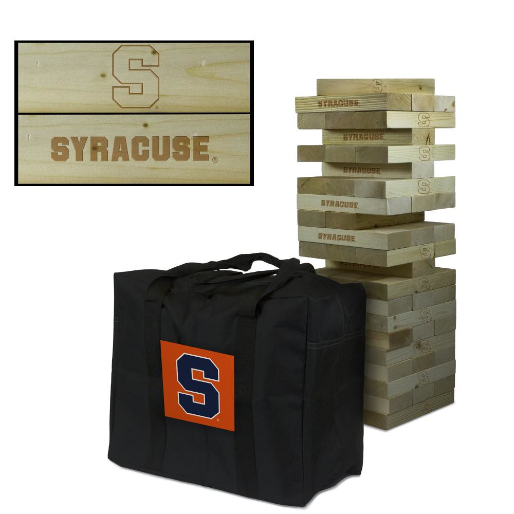 Syracuse University Orange Wooden Tumble Tower Game