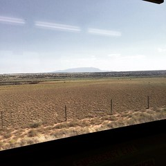 Interesting view of the Sandia mountain range in the distance, on my last train ride from work back to Santa Fe. #nmrailrunner #train #nm #nmtrue