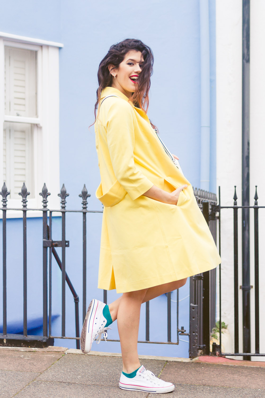 bright yellow coat style