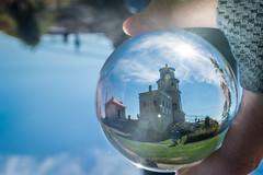 Split Rock Lighthouse through a crystal ball