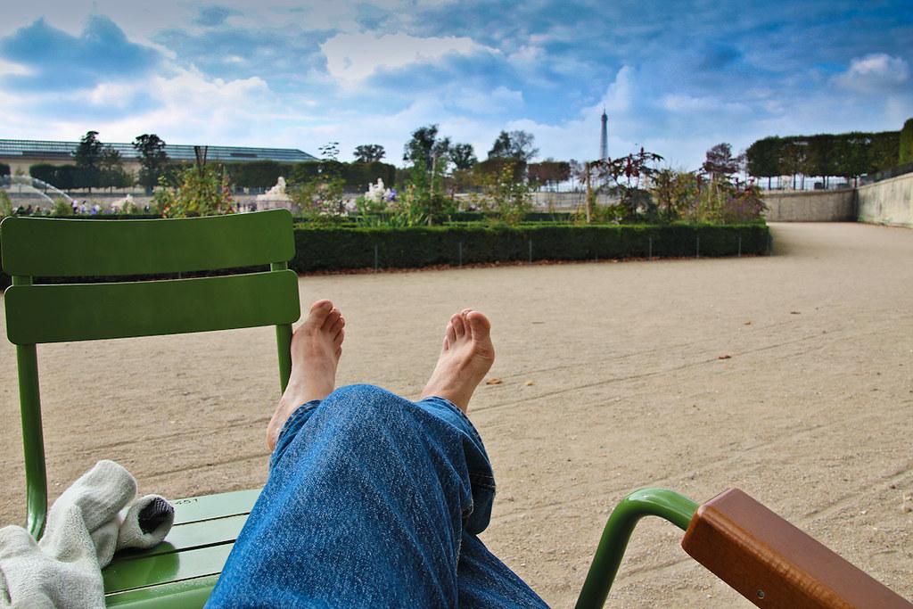 В парке Тюильри. Октябрь 2011-17
