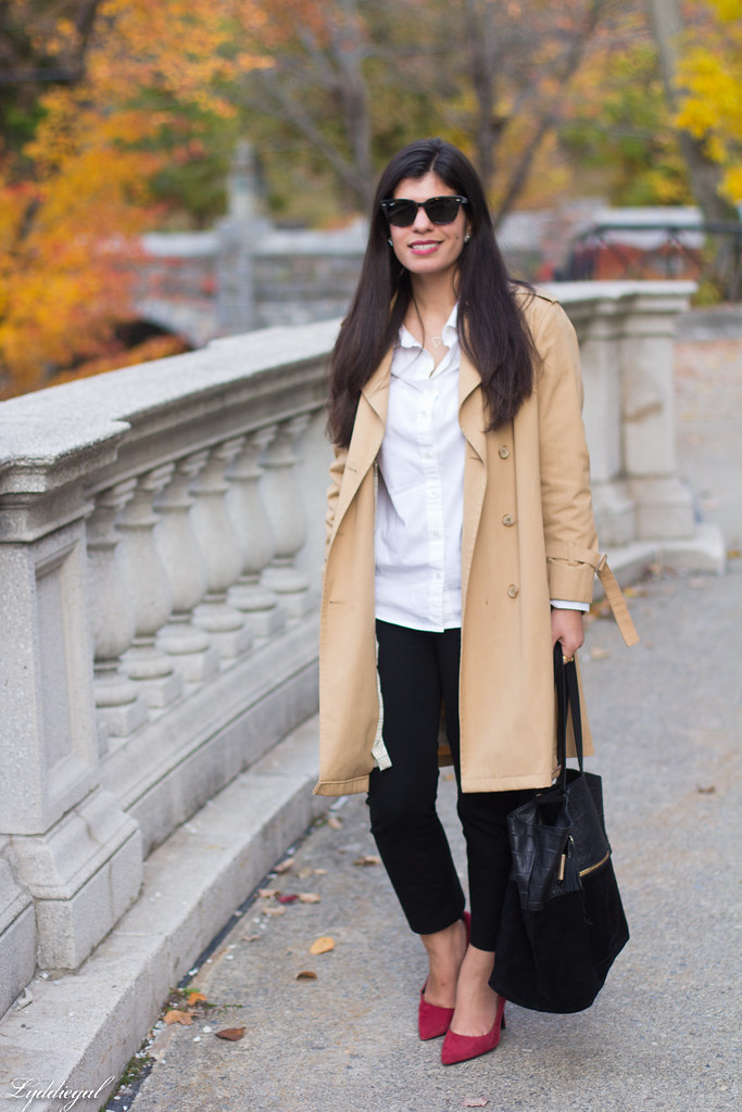 white shirt, black pants, trench, red pumps-11.jpg